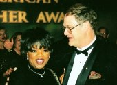 Peter Riffle with Oprah Winfrey